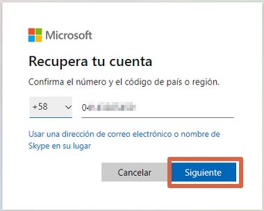 Cómo cambiar la clave de Skype desde la PC si no la recuerdas paso 2