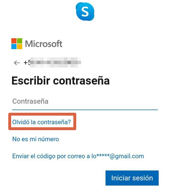 Cómo cambiar la contraseña de Skype desde la app paso 4