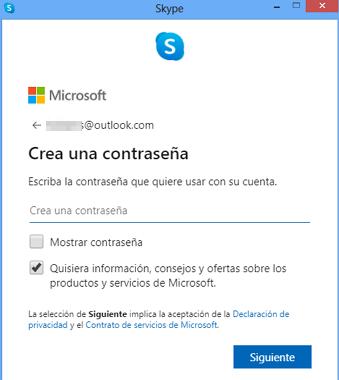 Cómo crear una cuenta o registrarse en Skype desde la versión de escritorio paso 8