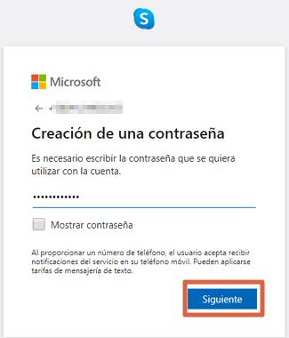 Cómo crear una cuenta o registrarse en Skype desde la versión web paso 5