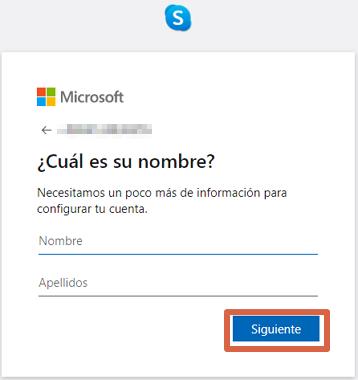 Cómo crear una cuenta o registrarse en Skype desde la versión web paso 6