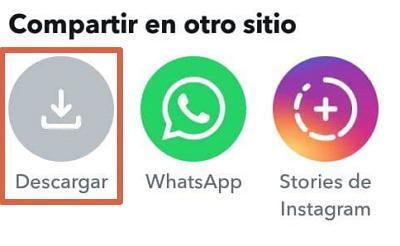 Cómo descargar recuerdos de Snapchat desde la app paso 5