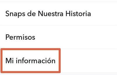 Cómo descargar tu información de Snapchat desde la app paso 4