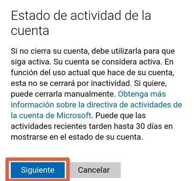 Cómo eliminar una cuenta de Skype desde el móvil paso 7