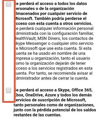 Cómo eliminar una cuenta de Skype desde el móvil paso 8