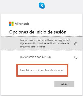 Cómo recuperar cuenta de Skype si olvidaste el usuario paso 3