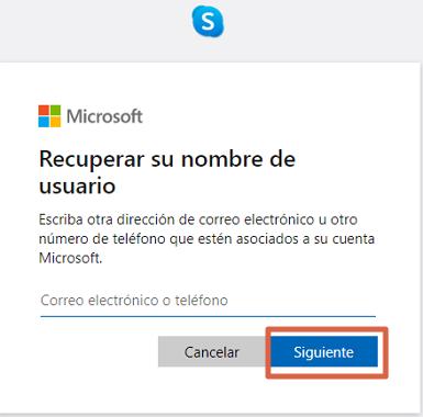 Cómo recuperar cuenta de Skype si olvidaste el usuario paso 4