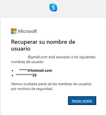 Cómo recuperar cuenta de Skype si olvidaste el usuario paso 6
