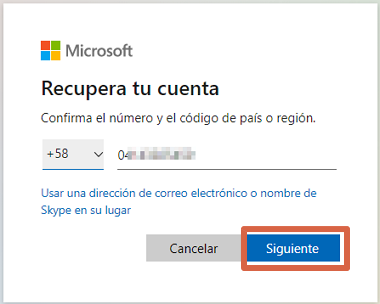 Cómo recuperar cuenta de Skype si olvidaste la contraseña paso 2
