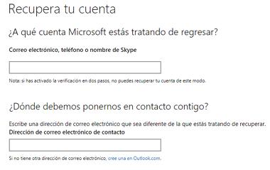 Cómo recuperar cuenta de Skype sin acceso al correo paso 1