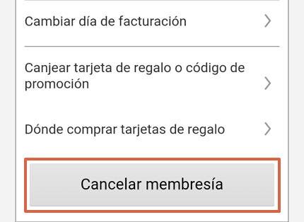 Cómo eliminar la cuenta de Netflix a través de la app paso 5