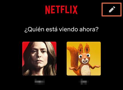 Cómo eliminar un perfil de la cuenta de Netflix a través de la app paso 2