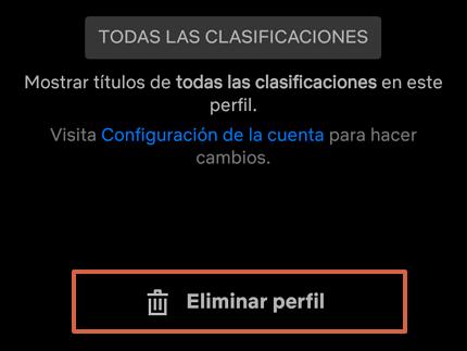 Cómo eliminar un perfil de la cuenta de Netflix a través de la app paso 4