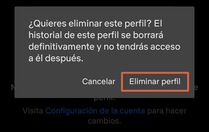 Cómo eliminar un perfil de la cuenta de Netflix a través de la app paso 5