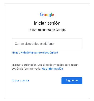 iniciar sesion en google desde la PC