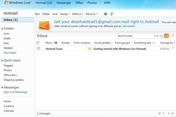 Hotmail versión anterior