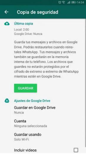 recuperar chats borrados whatsapp