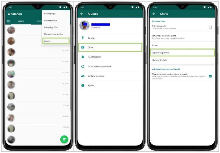 Cómo hacer una copia de seguridad completa de WhatsApp