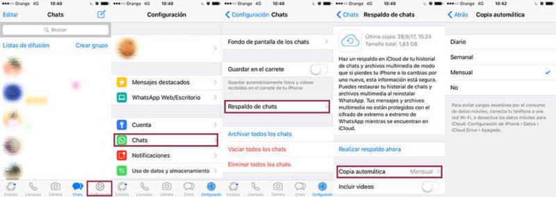 mensajes borrados de WhatsApp en iOS