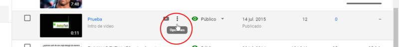 como borrar video de Youtube