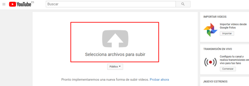 subir videos a youtube mas rapido
