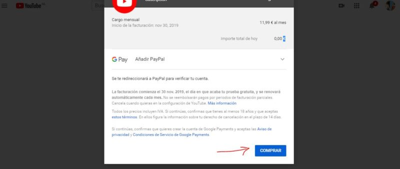 youtube premium beneficios