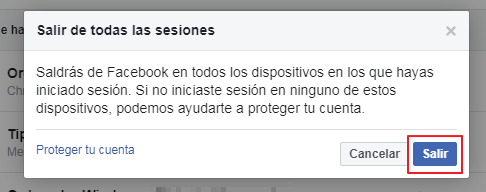 salir de todas las sesiones facebook