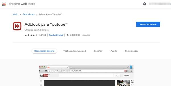 Cómo eliminar los anuncios de YouTube desde el ordenador usando la extensión AdBlocker para YouTube