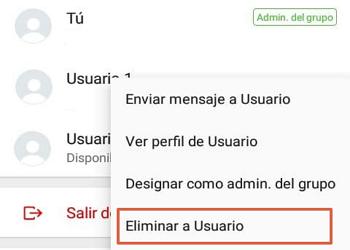 Cómo eliminar un grupo de WhatsApp paso 2