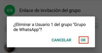 Cómo eliminar un grupo de WhatsApp paso 3
