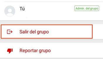 Cómo eliminar un grupo de WhatsApp paso 4