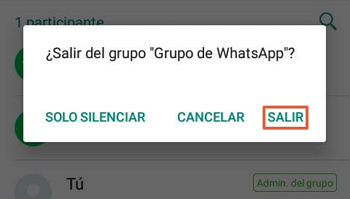 Cómo eliminar un grupo de WhatsApp paso 5
