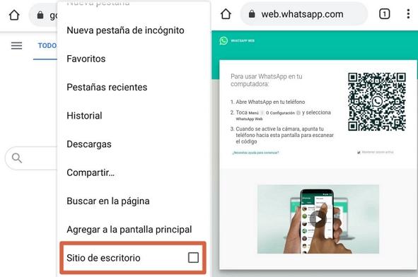 Cómo espiar o hackear WhatsApp usando WhatsApp Web desde el celular