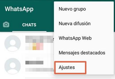Cómo hacer una copia de seguridad de WhatsApp en Android paso 2