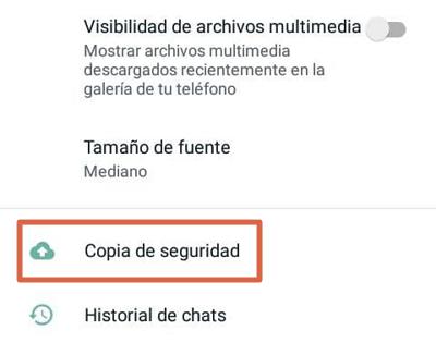 Cómo hacer una copia de seguridad de WhatsApp en Android paso 4
