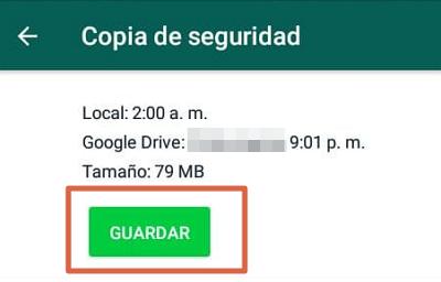 Cómo hacer una copia de seguridad de WhatsApp en Android paso 6