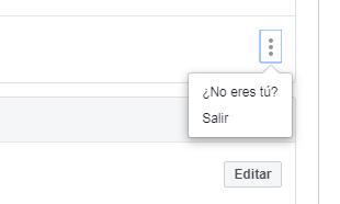 como cerrar sesion en facebook en computadora