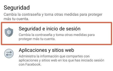 Cerrar sesion en facebook desde el movil paso 4