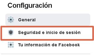 Cerrar sesiones de facebook desde la PC paso 4