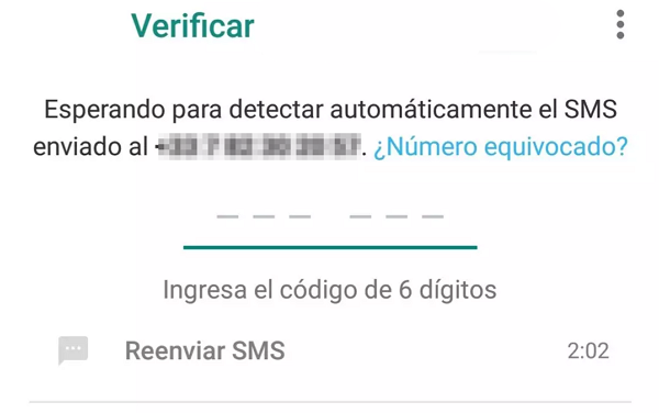 Errores de WhatsApp. Error de verificación