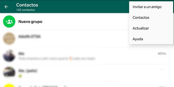 Errores de WhatsApp. Los contactos aparecen duplicados