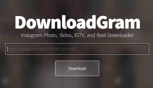 Descargar fotos o videos de Instagram con DownloadGram