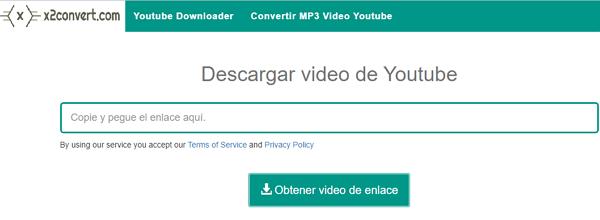 Descargar videos de YouTube con x2convert