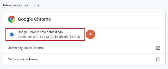 actualizar google chrome en la PC paso 4
