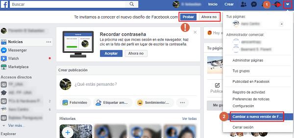 configuar facebook