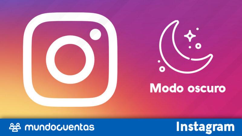 Activar modo oscuro Instagram