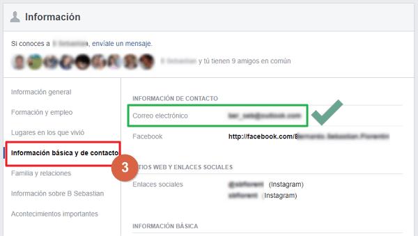 correo de facebook