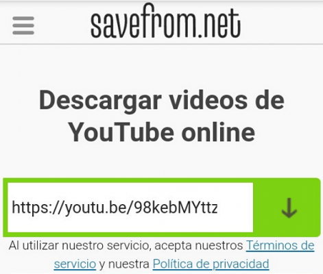 youtube descargar video safefrom