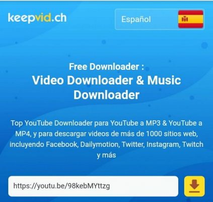youtube descargar video keepvid