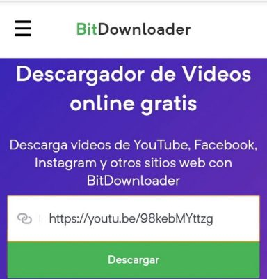 youtube descargar video bitdownloader